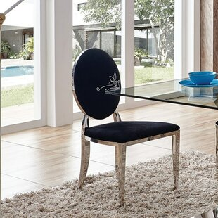 Joslyn Modern Upholstered Dining Chair (Set of 2) Everly Quinn