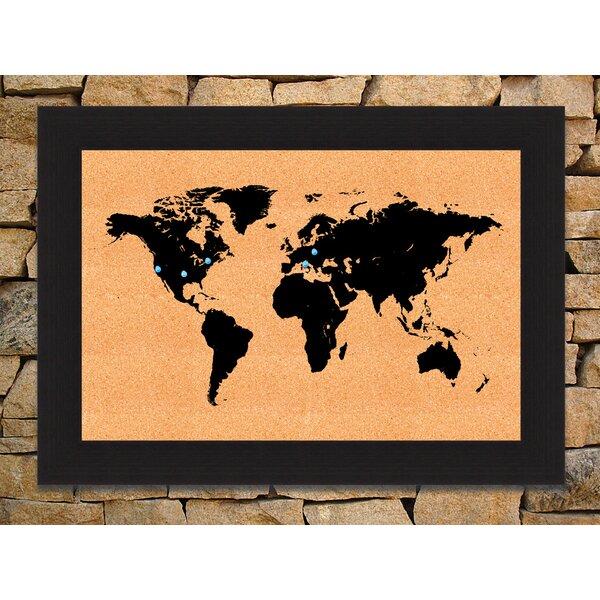 World Map Push Pin Board | Wayfair