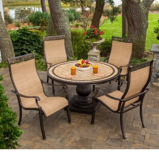 Carlee 5 Piece Outdoor Dining Set