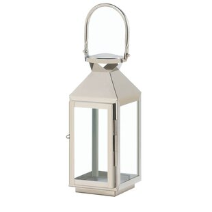 Stainless Steel/Glass Lantern by House of Hampton