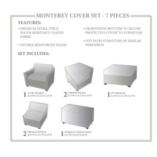 Rochford 7 Piece Patio Furniture Cover Set