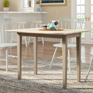 Wembley Drop Leaf Solid Wood Dining Table Beachcrest Home