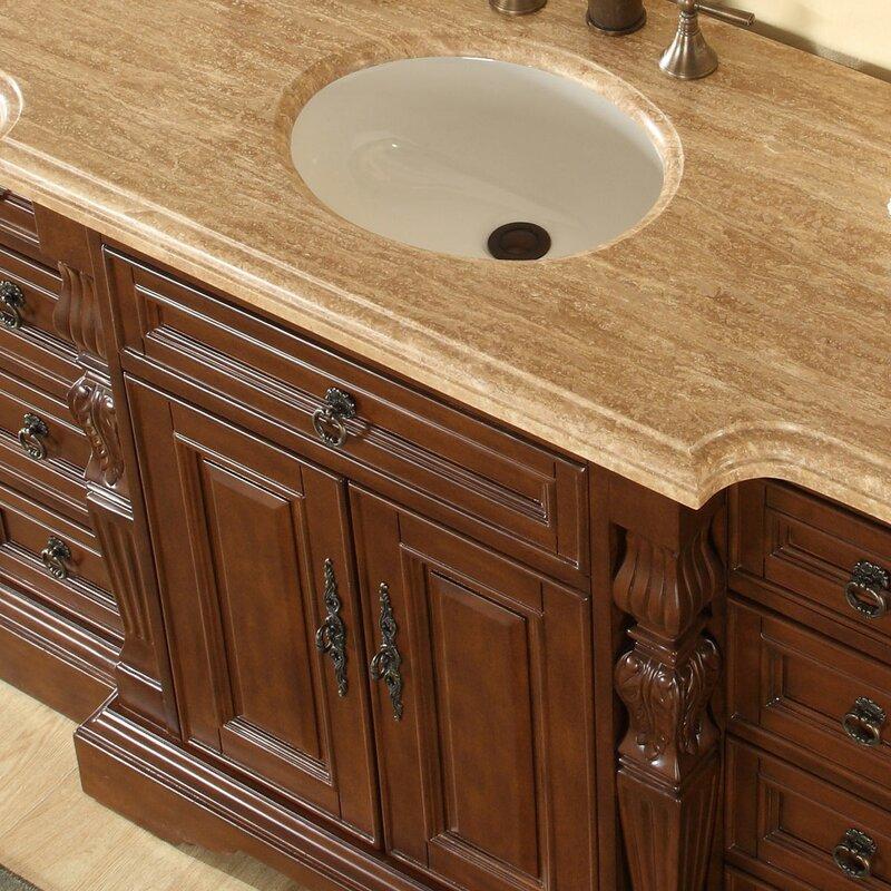 Silkroad Exclusive Single Sink Bathroom Vanity Set Reviews - Bathroom vanities northridge ca