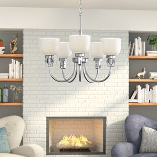 Gotha 5-Light Shaded Chandelier by Beachcrest Home