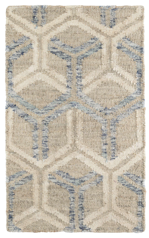 Dash And Albert Rugs Tala Geometric Handmade Flatweave Ivory Blue Area Rug Wayfair