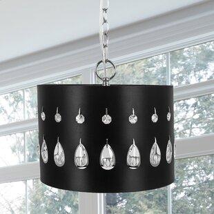 Mercer41 Hoadley Crystal Glass 1-Light Pendant