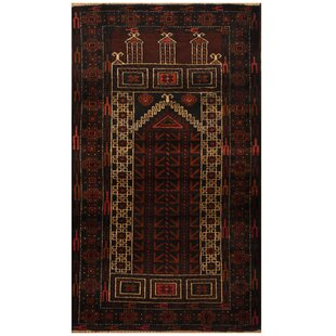 Best Deals One-of-a-Kind Ebron Hand-Knotted 2'7 x 4'6 Wool Rust/Black Area Rug ByBloomsbury Market