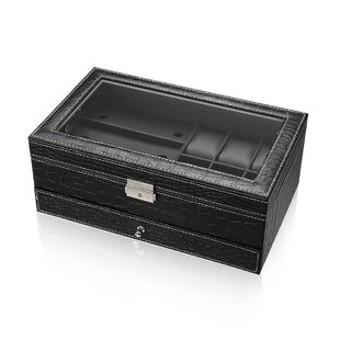 Comparison Crocodile Skin Fabric Hardware Embellishment Elegant Watch Box By Winston Porter