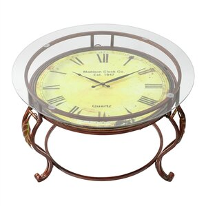 Lytton Coffee Table with Clock by Alcott Hill