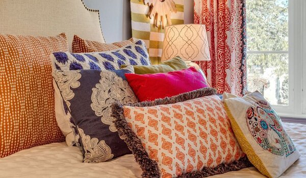How To Decorate With Colorful Accent Pillows Wayfair Impressive Decorate Bed With Pillows