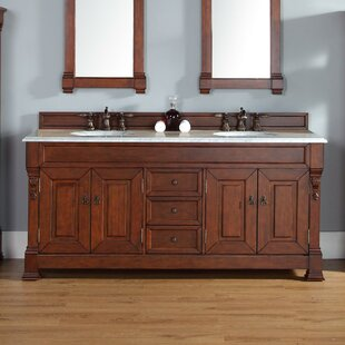 Bedrock 72 Double Country Oak Bathroom Vanity Set with Drawers ByDarby Home Co