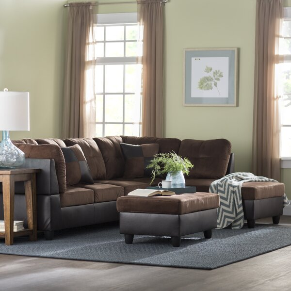 Andover Mills Russ Sectional With Ottoman Amp Reviews Wayfair
