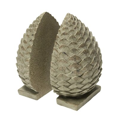 Millwood Pines Pinecone Bookends