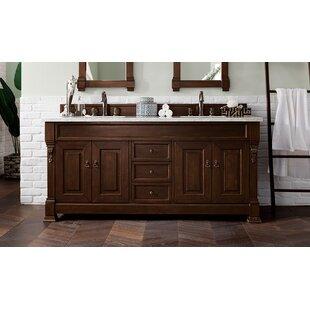 Bedrock 72 Double Bathroom Vanity Set