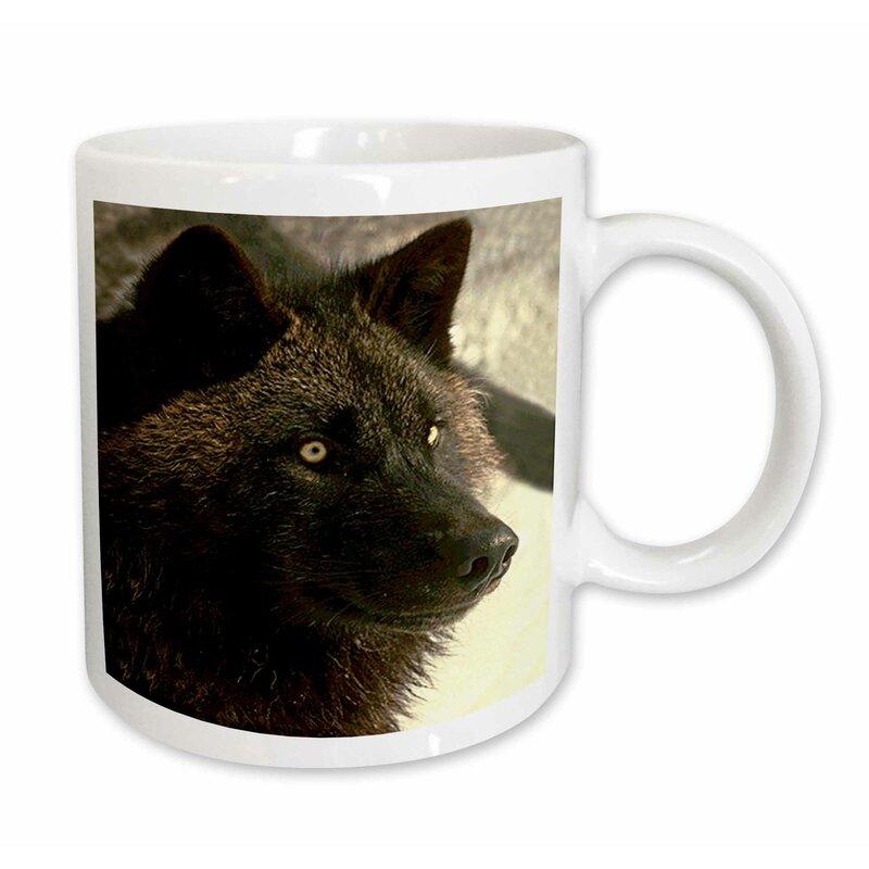 East Urban Home Tundra Wolf Coffee Mug Wayfair