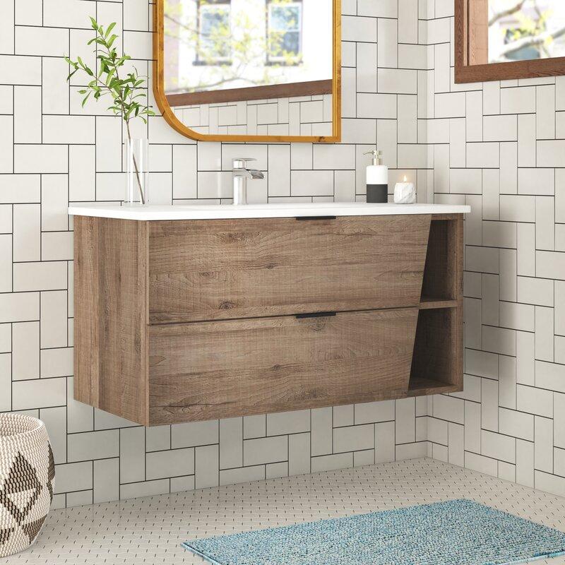 Foundstone Hadly 40 Wall Mounted Single Bathroom Vanity Set Wayfair