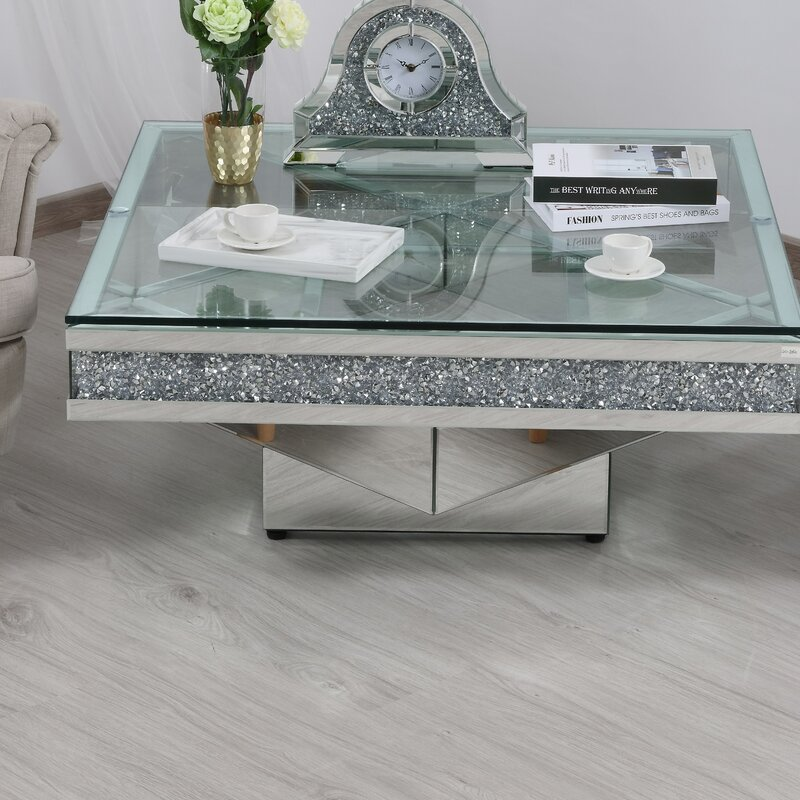 Rosdorf Park Aaryahi Mirrored Coffee Table