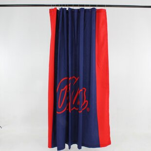 NCAA Cotton Single Shower Curtain by College Covers