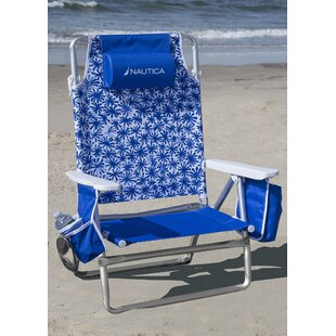 5 Position Reclining/Folding Beach Chair