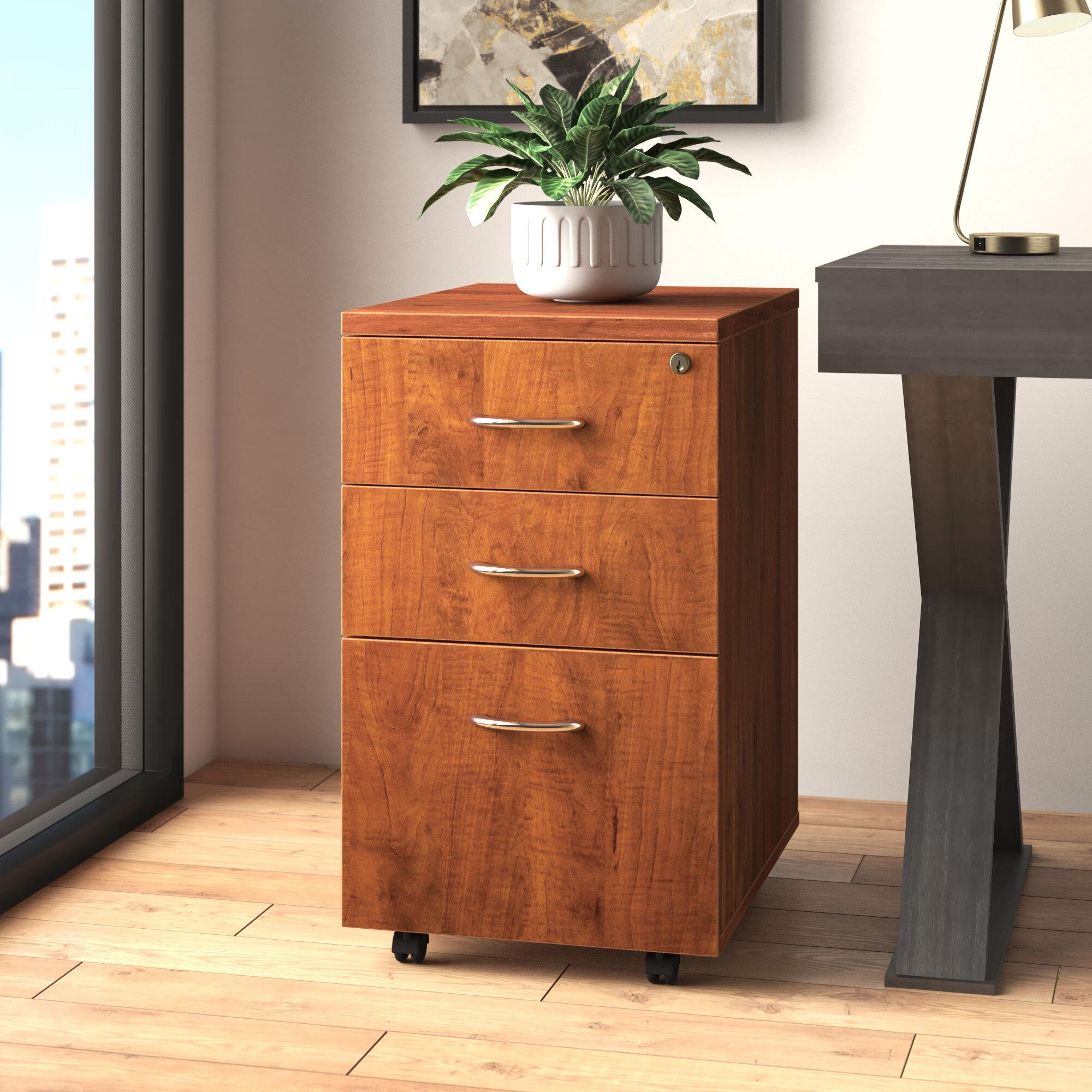 Lorell 3 Drawer Mobile Vertical Filing Cabinet Reviews Wayfair