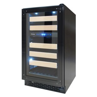 28 Bottle Panel Ready Dual Zone Convertible Wine Cooler by Vinotemp