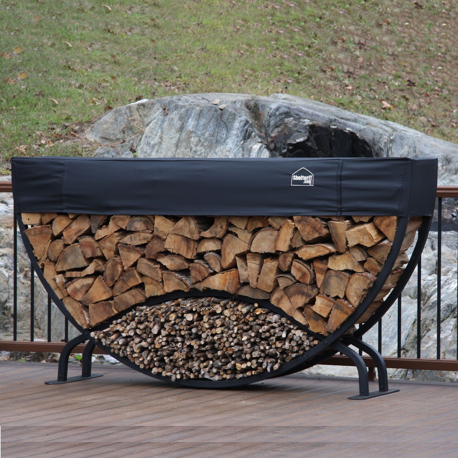 Symple Stuff Easterwood 8 Round Firewood Log Rack Reviews Wayfair
