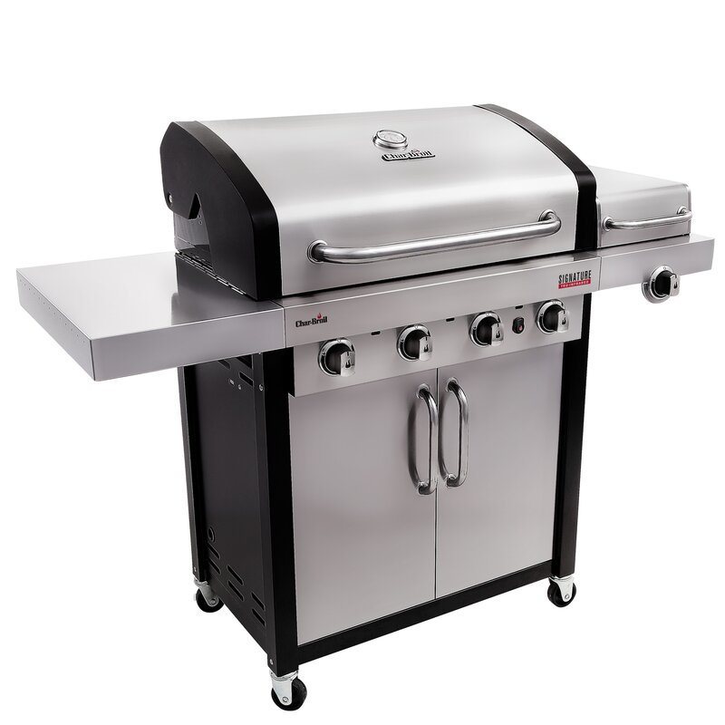 CharBroil Signature TRU-InfraRed 4-Burner Propane Gas Grill with ...