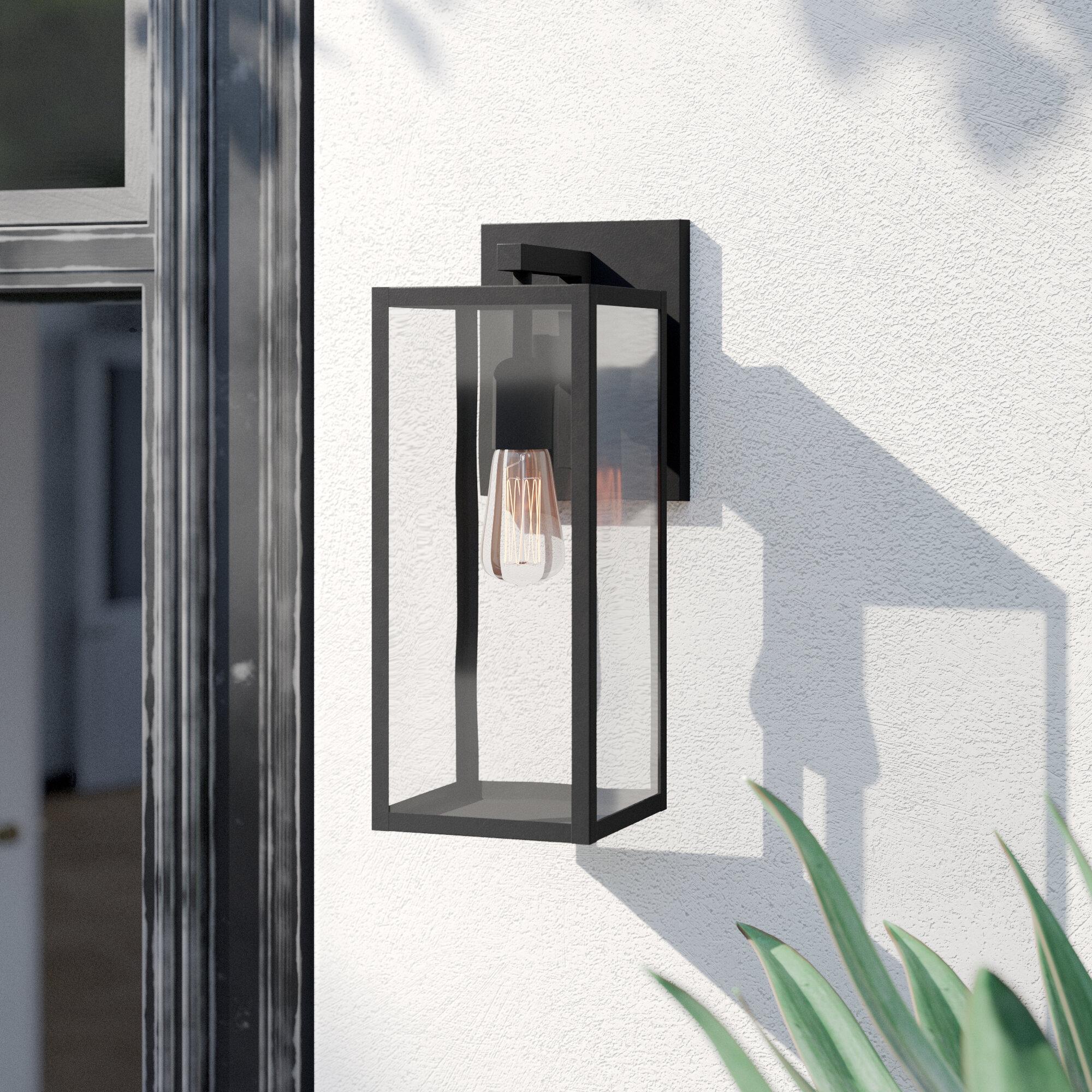 Foundstone Andalucia Matte Black 1 Bulb 14 76 H Outdoor Wall Lantern Reviews Wayfair