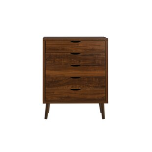 Roberta Modern 5 Drawer Accent Chest by Turn on the Brights