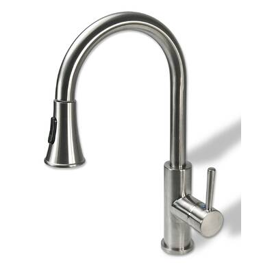Pull Down Single Handle Kitchen Faucet Reviews Joss Main
