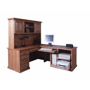 San Rafael L-Shape Executive Desk with Hutch by Loon Peak Office Furniture