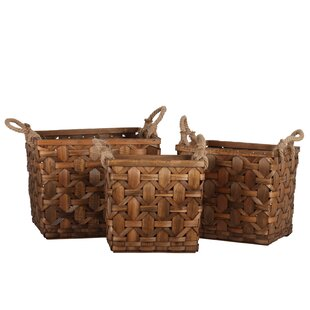 Buying Rectangle 3 Piece Wicker Basket Set By World Menagerie