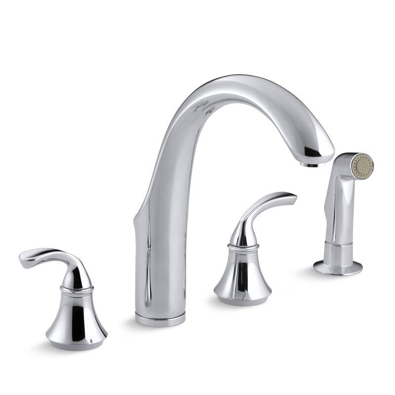 K 10445 Bn Kohler Forte 4 Hole Kitchen Sink Faucet With 7 3 4