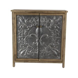 Charleville Rustic Wood 2 Door Accent Cabinet by Ophelia & Co.
