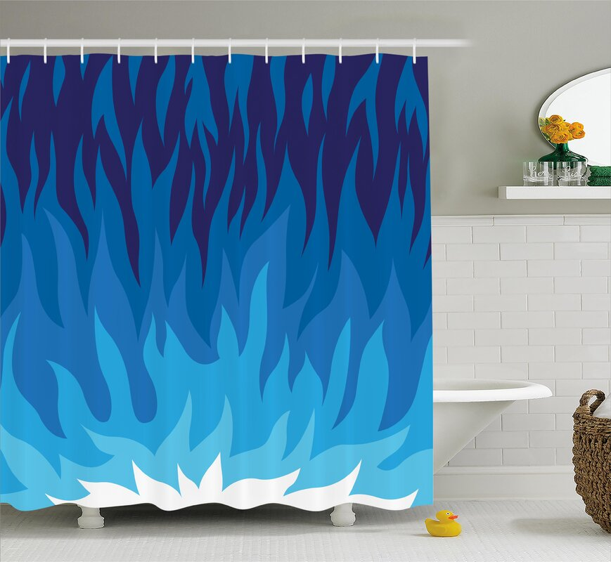 Zoomie Kids Sharon Abstract Gas Flame Fire Shower Curtain Reviews