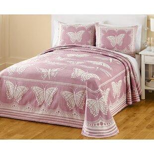 PDK Worldwide Butterfly Jacquard Bedspread