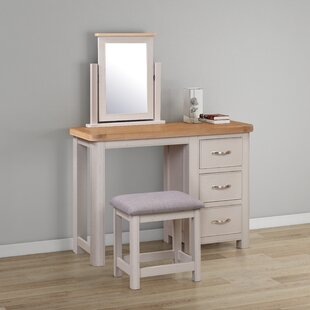 Comfrey Dressing Table Set With Mirror By August Grove