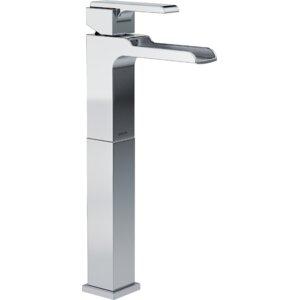 Ara Centerset Lavatory Faucet with Riser and Channel Spout