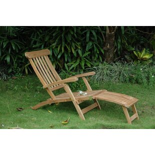 Anderson Teak Royal Reclining Teak Chaise Lounge