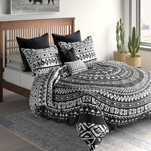 Azemmour 7 Piece 100% Cotton Reversible Duvet Cover Set