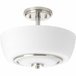 Angelinea 2-Light Semi-Flush Mount by Latitude Run