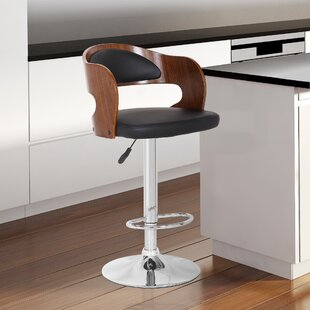 Terrazas Adjustable Height Swivel Bar Stool by Orren Ellis