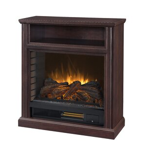 Chow 30 Mobile Infrared Media Electric Fireplace by Charlton Home