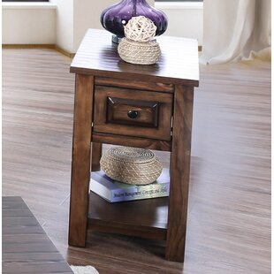 Jansen Farmhouse End Table with Storage