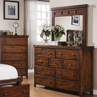Loon Peak 9 Drawer Dresser with Mirror