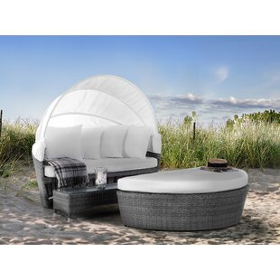 2 Piece Rattan Garden Daybed Set With Cushions Image