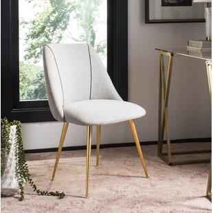 Darrius Linen Blend Upholstered Dining Chair