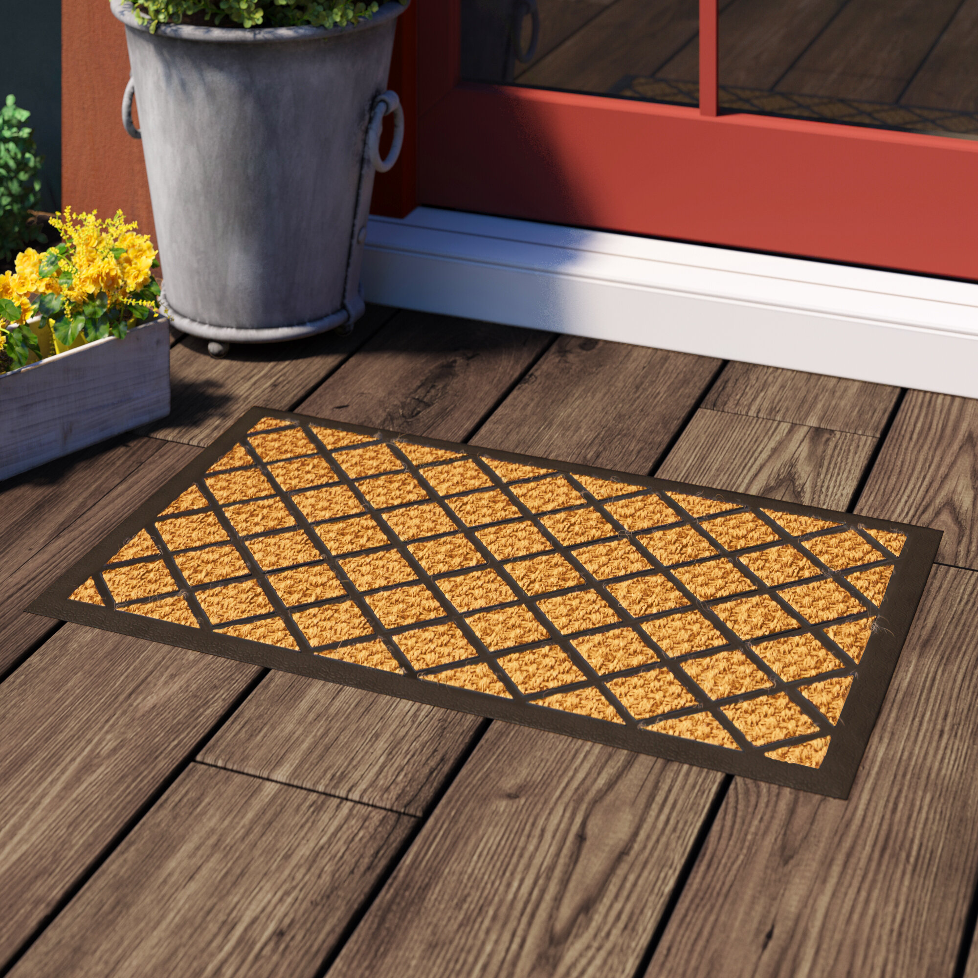 Red Barrel Studio Laurita Entry 30 In X 18 In Non Slip Outdoor Door Mat Reviews Wayfair