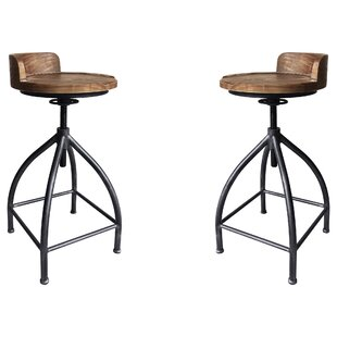 Arballo Metal Adjustable Height Bar Stool - set of 2 (Set of 2) by Williston Forge