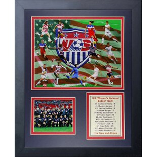 United States Women's National Soccer Team 2015 Framed Memorabilia by Legends Never Die